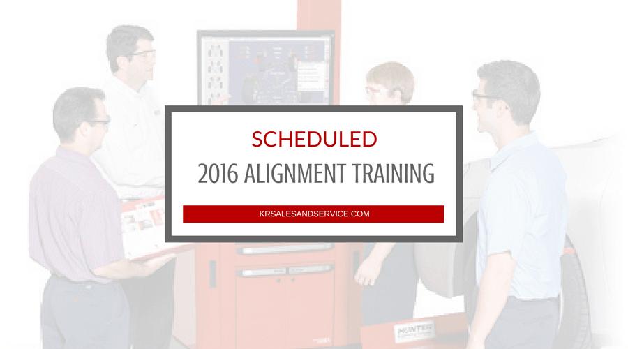 2016 Alignment Training Scheduled