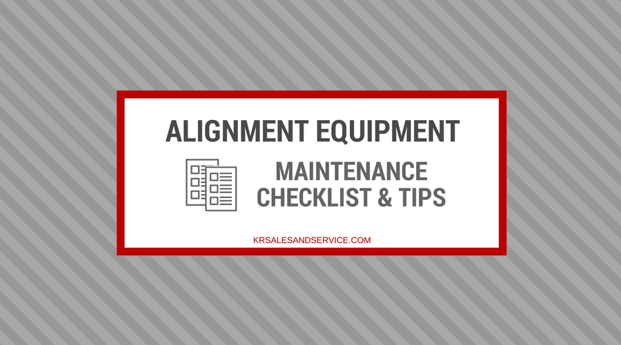 Hunter Alignment Equipment Maintenance Checklist