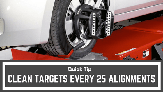 Quick Tip: Clean Targets Every 25 Alignments
